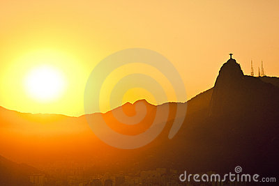 Sunset of Jesus and Corcovado