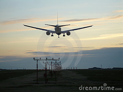 Sunset Jet Landing