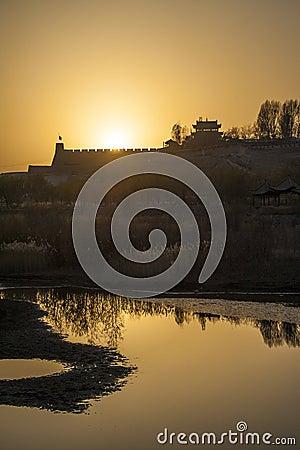 Sunset in Jiayuguan