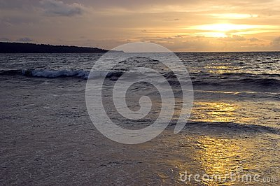 Sunset in Jimbaran beach, Bali Island