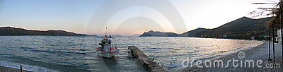 Sunset in Kalamos, Greece