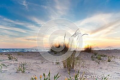 Sunset at Kalogria beach