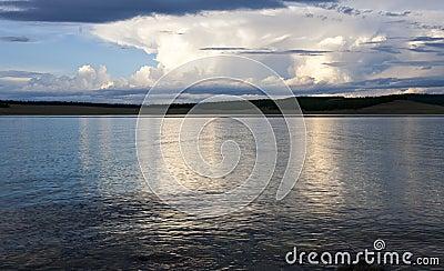Sunset at Khovsgol Lake