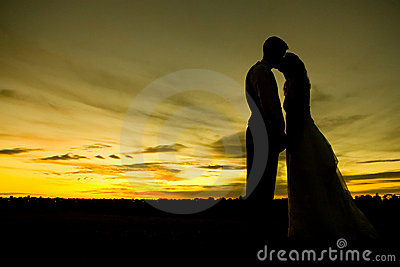 Sunset Kiss Royalty Free Stock Image - Image: 1351026