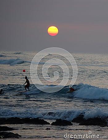 Sunset at kohala coast, Big Island