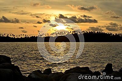 Sunset at kohkood thailand