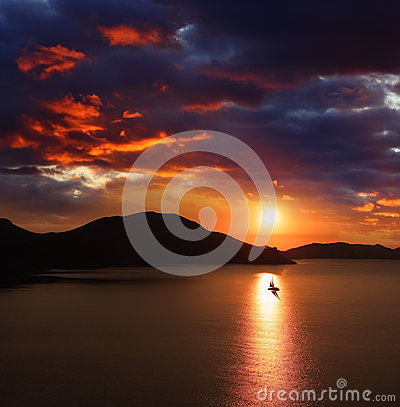 Sunset in Koktebel
