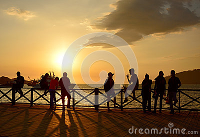 Image result for evening sunset and people enjoying in Malaysia