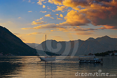 Sunset in the Kotor Bay