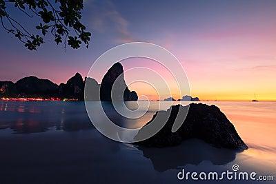 Sunset at Krabi in Thailand.