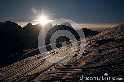 Sunset in Kuthai�s mountains