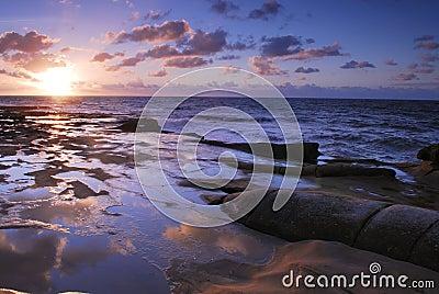 Sunset in La Jolla Cove