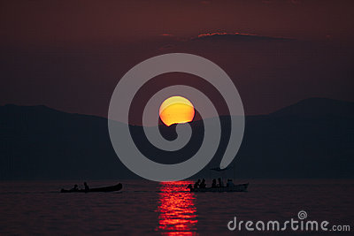 Sunset at Lake Ohrid