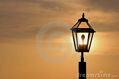 Sunset in the lamp