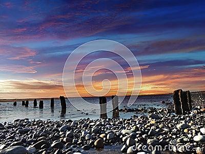 Sunset in Lancashire, uk