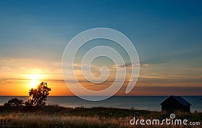 Sunset on Öland, Sweden