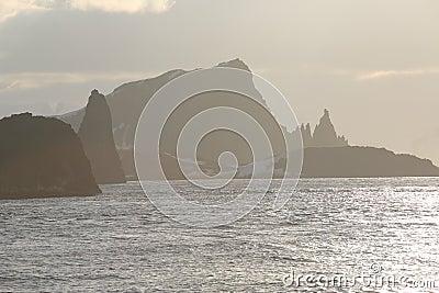 Sunset landscape in Antarctica