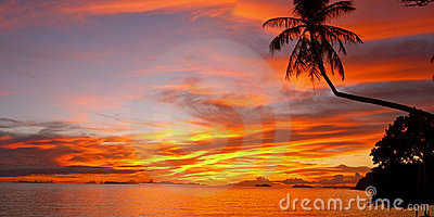 Sunset Leela Beach