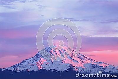 Sunset light on Mount Rainier