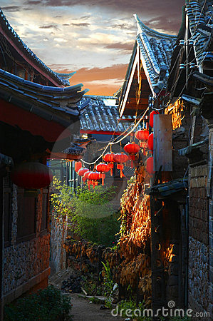 Free Sunset Lijiang The Old Town Stock Images - 7684844
