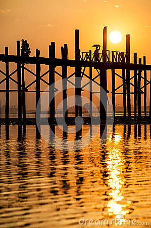 Sunset at the U Bein Bridge, Myanmar