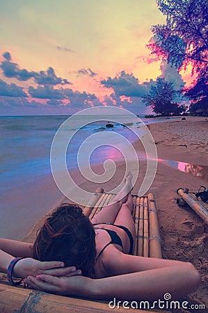 Free Sunset Lounging Stock Photography - 8447952