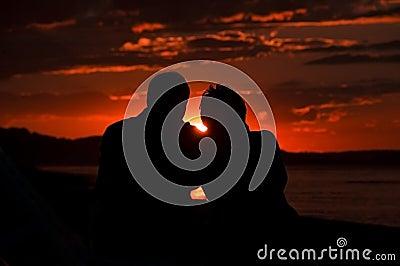 Sunset love couple