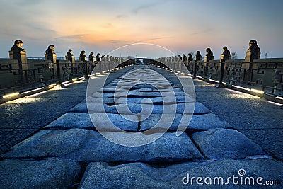 Sunset of lugou bridge
