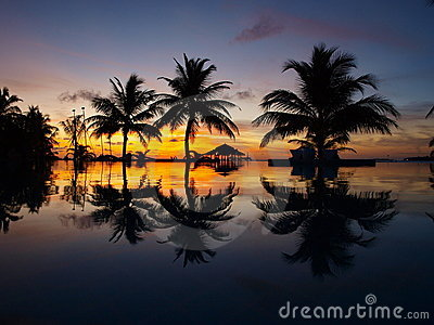 Sunset at Maldives