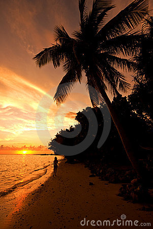 Sunset on Malola Island, Fiji