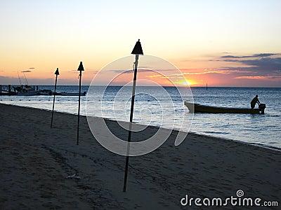Sunset, Malolo island, Fiji