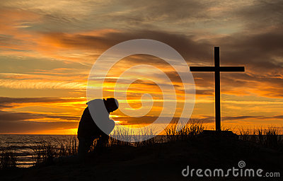 Sunset Man Of Prayer
