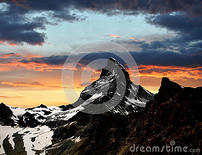 Sunset on the Matterhorn