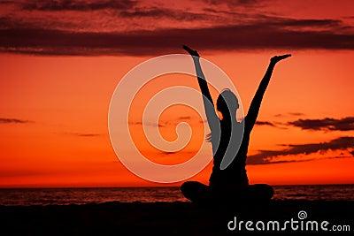 Sunset meditation.