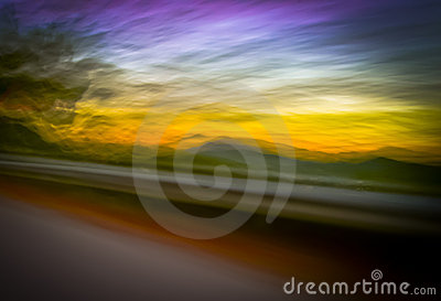 Sunset blur panning