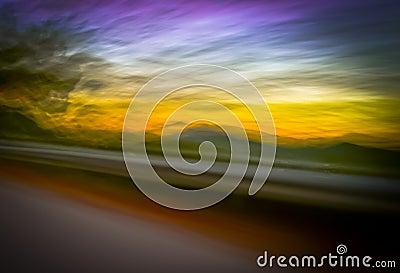 Sunset blur panning