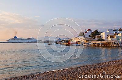 Sunset on Mykonos Island