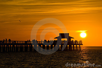 Sunset in Naples,Florida,USA