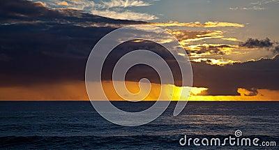 Sunset near Eastern Island