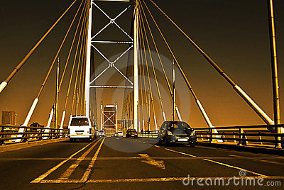 Sunset on Nelson Mandela Bridge