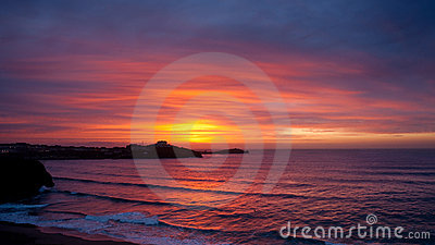 Sunset in Newquay, England