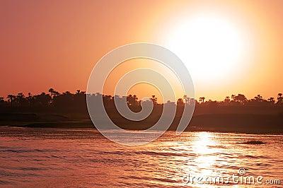 Sunset on Nile