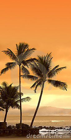 Sunset at Oahu, Hawaii