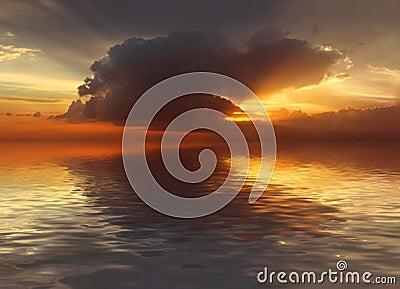 Sunset in Ocean