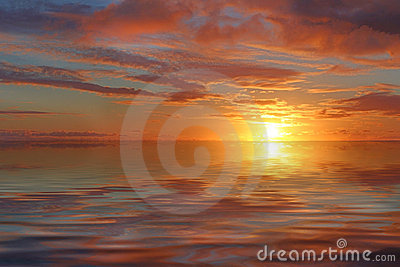 Sunset ocean background