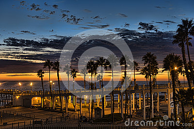 Sunset At the Oceanside Pier