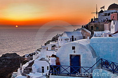 Sunset in Oia - Santorini.