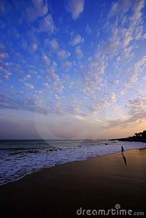 Free Sunset On Beach Royalty Free Stock Photo - 10953215