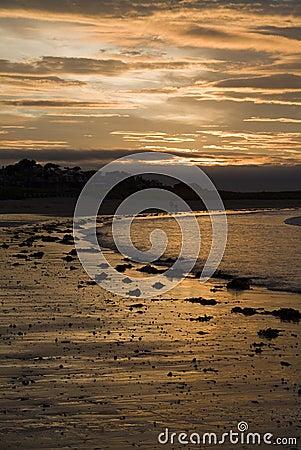 Free Sunset On Beach, North Berwick Royalty Free Stock Image - 8622716