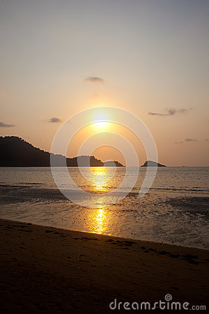 Free Sunset On Island At The Beach Stock Photos - 30340033